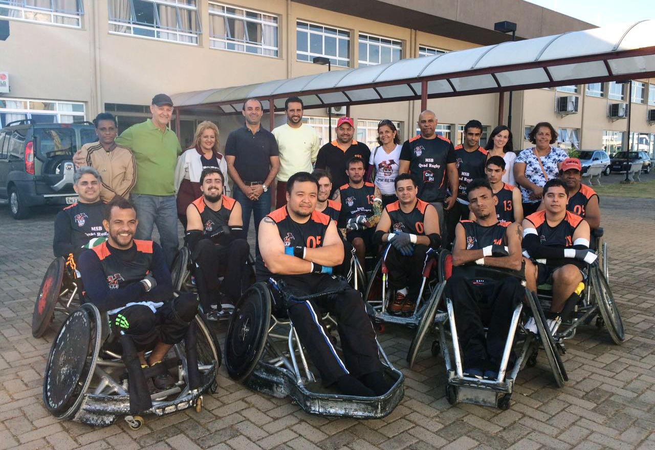 Equipe MSB Dragões de Bebedouro com seus colaboradores