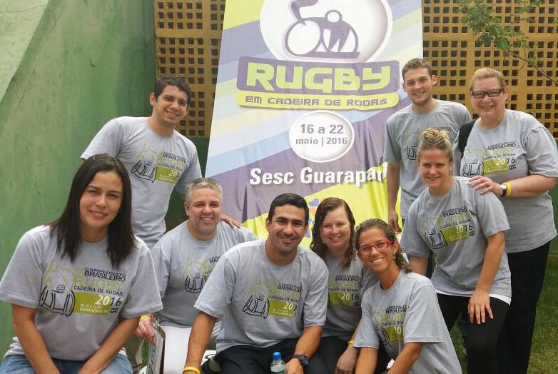 Andreia Gatti e equipe de classificadores durante Campeonato Brasileiro 2016
