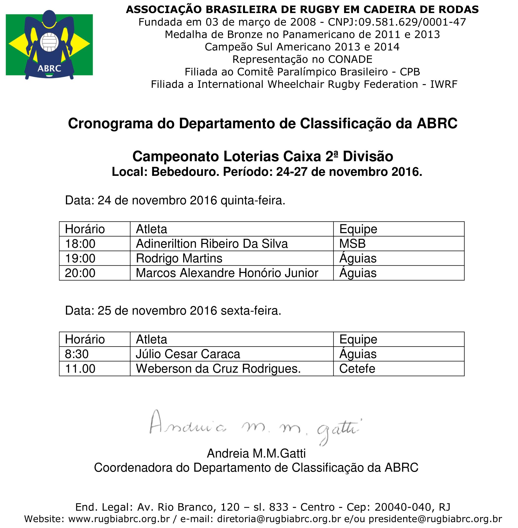 Microsoft Word - Cronograma Copa Caixa Bebedouro