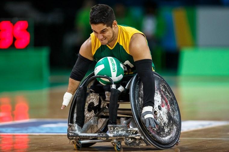 Julio César Braz, eleito para receber premiação pelo rugby em cadeira de rodas